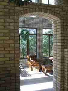 brick archway detail